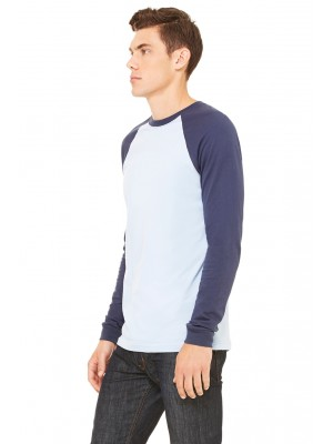Bella + Canvas 3000C Men's Jersey Long-Sleeve Baseball T‑Shirt