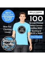 100 Custom Screen Printed Bella+Canvas T Shirt Special