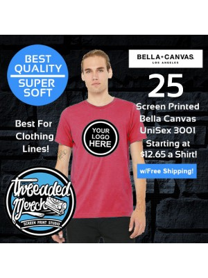 25 Custom Screen Printed Bella+Canvas T Shirt Special