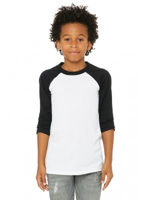 Bella + Canvas 3200Y Youth 3/4-Sleeve Baseball T-Shirt