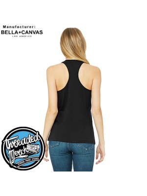 100 Custom Screen Printed Bella + Canvas 6008 WOMEN'S JERSEY RACERBACK TANK