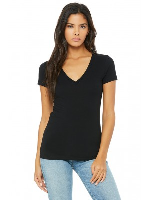 Bella + Canvas B6035 Ladies' Jersey Short-Sleeve Deep V-Neck T-Shirt