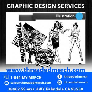 Custom Illustration - Character Design - Line Art - Vector