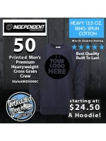 50 Independent Trading Company IND500C Men's Premium Heavy Weight Crew