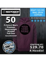 50 Independent Trading Company IND500P Men's Premium Heavy Weight Hooded Pull Over