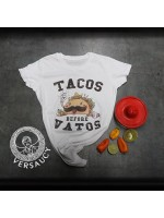 Versaucy - Tacos Before Vatos - Women's Crew Neck - WHITE