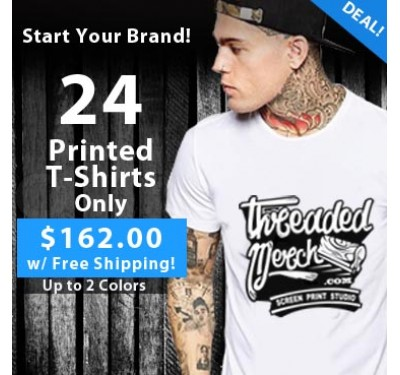 24 Custom Printed T Shirts