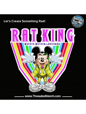 Rat King Gooba Parody T shirt - Rainbow